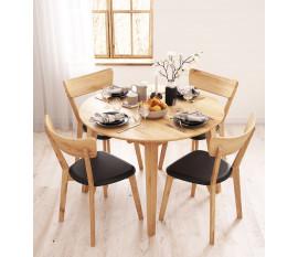Guľatý stôl dubový 04 rozťahovací