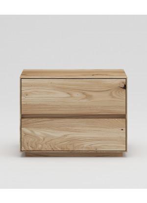 Dubový nočný stolík NSzn02 2s