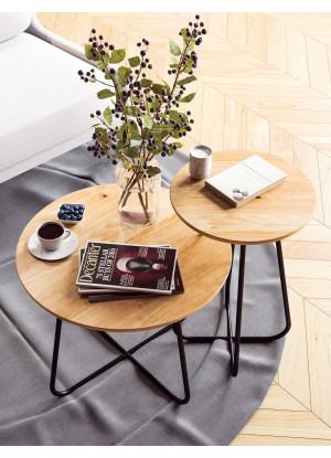 Dubový konferenčný stolík Ław10