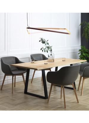 Dubový stôl na kovových nohách 11