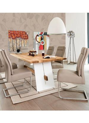 Dubový stôl na kovových nohách Alba