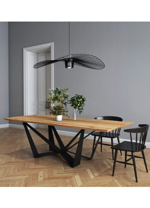 Dubový stôl na kovových nohách Lukka