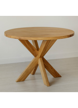 Dubový stôl Masív 07 guľatý
