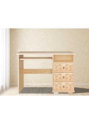 Drevený písací stôl Horalský 3s