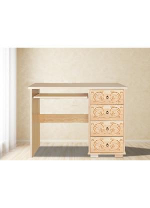 Drevený písací stôl Horalský 4s