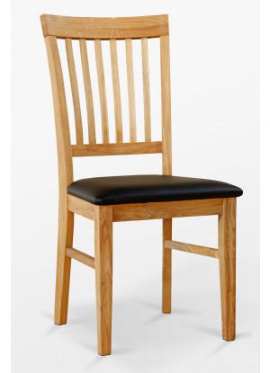 Dubová stolička 02 Eko koža čierna/biela