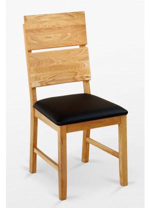 Dubová stolička 03 Eko koža čierna/biela