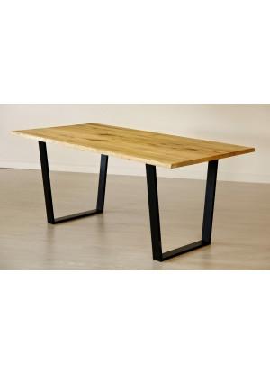 Dubový stôl na kovových nohách 15