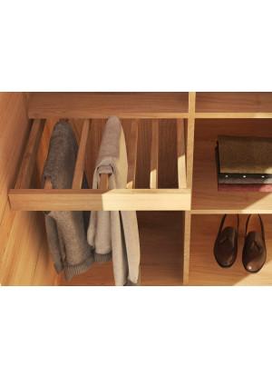 Wieszak na spodnie do szafy dębowej Modern mały 50cm