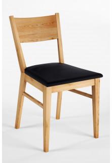Dubová stolička 06 Eko koža čierna/biela