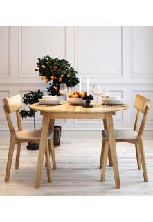 Guľatý stôl dubový 03