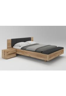 Dubová posteľ Levitujúca 02 s funkciou nádoby na posteľnú