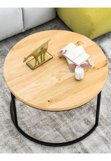Dubový okrúhly konferenčný stolík Ław03 veľký
