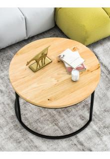 Dubový okrúhly konferenčný stolík Ław03 malý