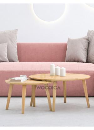 SADA konferenčných stolíkov dubových Ław24kpl