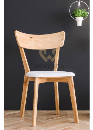 Dubová stolička 01 Eko koža čierna/biela