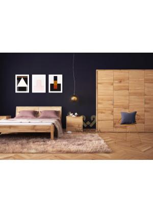 Dubová posteľ Modern 02