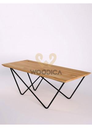 Dubový konferenčný stolík Ław17