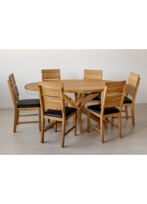 Dubový stôl Masív 08 Ovál