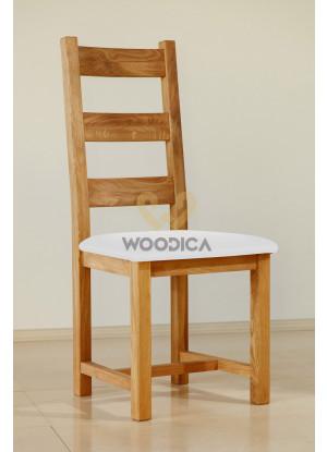 Dubová stolička 04 Eko koža čierna/biela