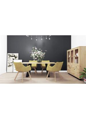 Dubový stôl na kovových nohách 16