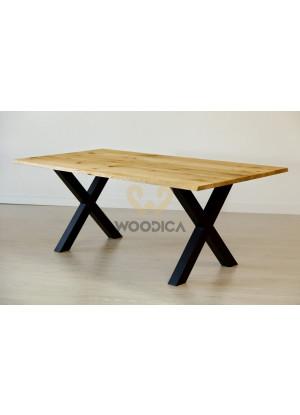 Dubový stôl na kovových nohách 17
