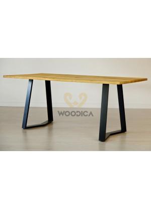 Dubový stôl na kovových nohách 12