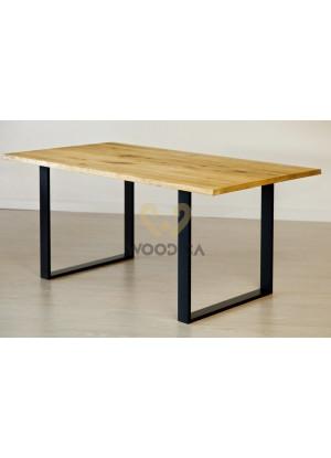 Dubový stôl na kovových nohách 13