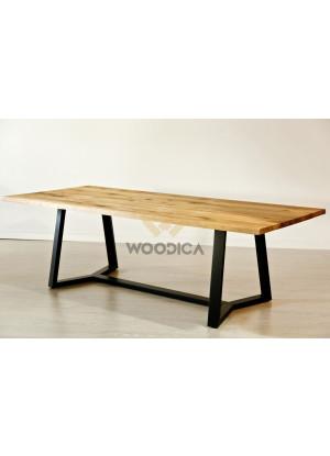 Dubový stôl na kovových nohách 19